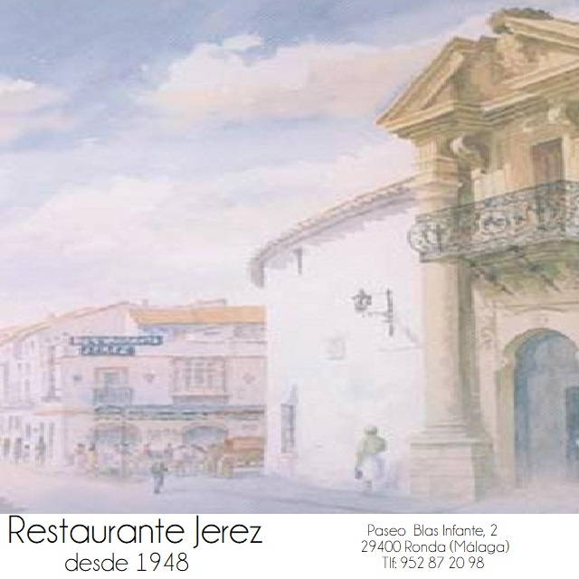Menu in Spanish - Special Offer of Restaurante Jerez at Ronda PASS